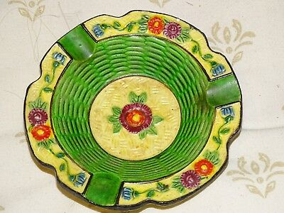 Vintage floral japanese ashtray