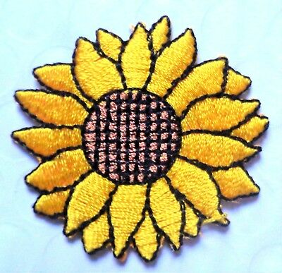 Iron On Patch Applique - Sunflower