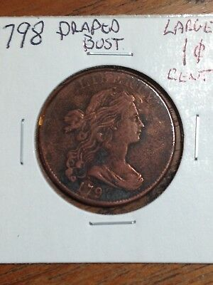 1798 Draped Bust Cent- Very Nice! Looks XF! No Reserve!