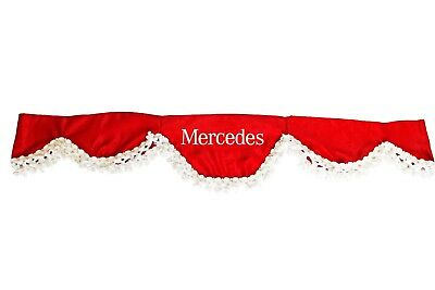RED Front Windscreen Shield Truck HGV Lorry Waveform Curtain Pelmet for MERCEDES
