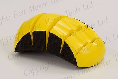 150mm DA SANDING DISC FLEXIBLE HAND BLOCK FLATTING RUBBING 6 INCH HOOK LOOP GRIP