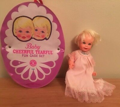 Mattel Cheerful Tearful Doll And Case Vintage 1965