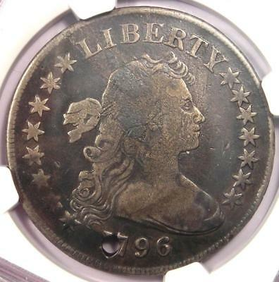 1796 Draped Bust Silver Dollar ($1 Coin, Small Eagle) - NGC VG Details (Holed)!