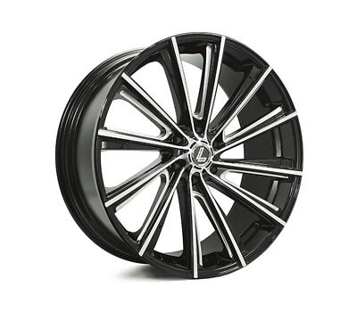 HOLDEN RODEO 2003 TO 2008 WHEELS PACKAGE: 24x10 Lenso Black Angel V3 and Winrun