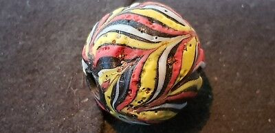 Exquisite large Ancient Islamic bead stunning wearable ancient artefact L72a