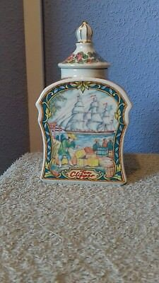 sadler tea caddy with the name tea clipper on