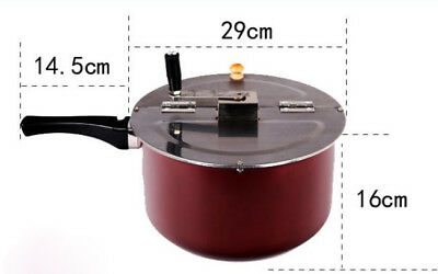 New Red Stainless Steel Non Stick Pan Commercial Household Popcorn Machine #