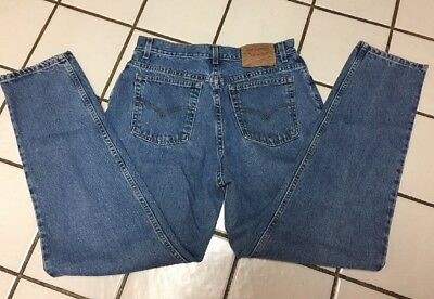 LEVI'S 550 Vintage Jeans Relaxed Fit Tapered Leg womens 14 Mis L Blue Denim