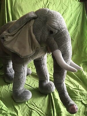 "Standing Elephant Trunk & Tusks Stuffed Animal Plush 23"" Tall NJ Pickup Only"