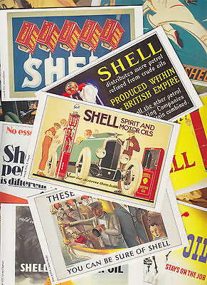 20 cartes postales reproduction anciennes affiches publicitaires SHELL + OPIE L1