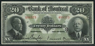 Bank Of Montreal Canada 1923 $20 #505-56-06 Au+ Wlm4905