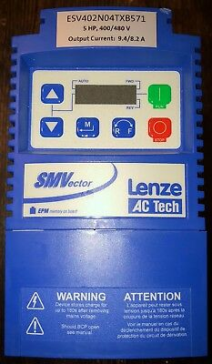 New 5 HP 400/480 Three Phase Lenze ACTech Variable Frequency Drive VFD w/Modbus