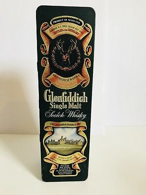 Glenfiddich Single Malt Scotch Whiskey tin made in UK by barringer walls manners