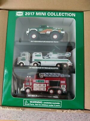 2017 Hess Toy Mini Truck Collection Trucks Set Brand New Sealed!