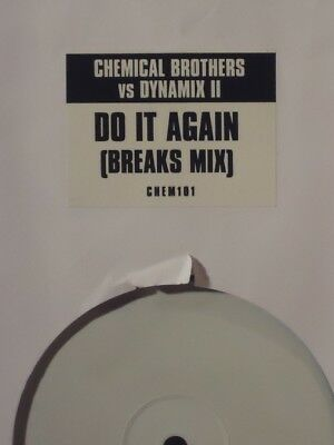 "Chemical Brothers vs Dynamix II - Do It Again (Breaks Mix) 12"" Vinyl White Label"