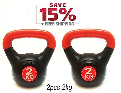 Kettlebell 2KG /2Pcs Hom Gym Office Fitness Workout Weight For Woman &Man