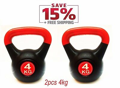 Kettlebell 4KG /2Pcs Hom Gym Office Fitness Workout Weight For Woman &Man