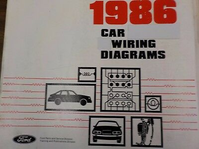 1986 ford lincoln mercury wiring diagrams factory manual (fm1986c)