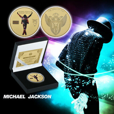 WR Michael Jackson's This Is It 24K Gold Plated Coin MJ Souvenir In Gift Box