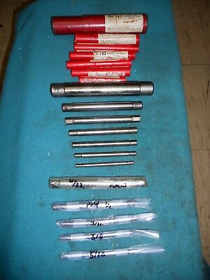 "(7) Cleveland Lathe Mandrels in original Storage Tubes, 1/4"" - 1""; with 4 others"