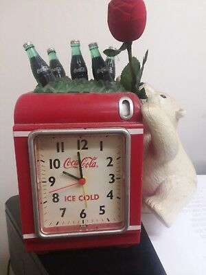 Coca~Cola Bank Alarm Clock with polar bear