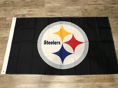 Pittsburgh Steelers Flag 3'X5' Team Logo Banner: Free Shipping