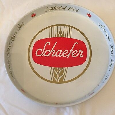 Vintage Schaefer Beer Serving Tray - F&M Schaefer, New York and Albany, NY
