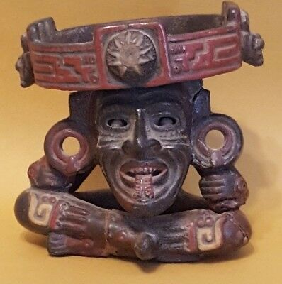 Aztec Mayan Folk Art Clay Pottery