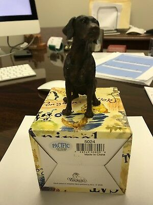 German Shorthaired Pointer Brown Figurine - Hand Painted - Resin - New in Box