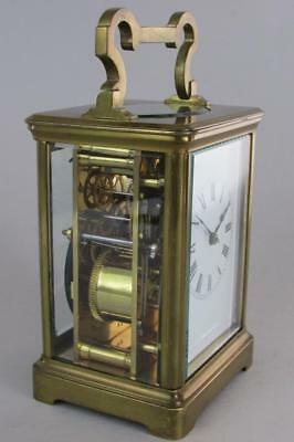 ANTIQUE FRENCH STRIKING CARRIAGE CLOCK grande size PROFESSIONALLY OVERHAULED