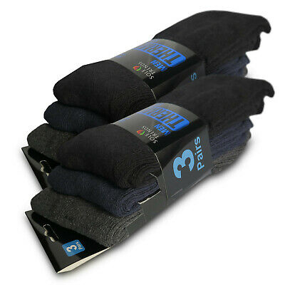 (3 or 6 Pairs) Men's Super Warm Heavy Thermal Wool Cotton Winter Socks