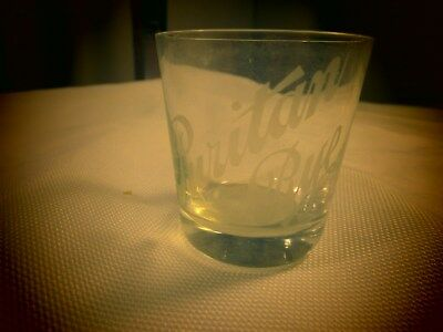 Puritan Rye Etched Pre. Pro Whiskey Adv. Shot Glass David Sachs Louisville,KY
