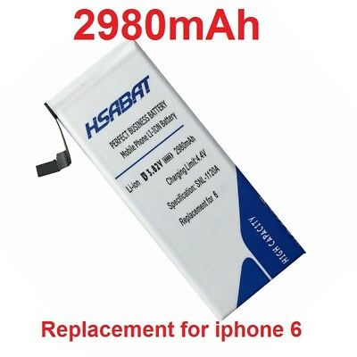HSABAT 2980mAh High Capacity Battery Use For Apple iPhone 6 4.7'' for iphone 6