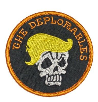 """Made In The USA! 3-1/2"""" Round Deplorable Patch."""
