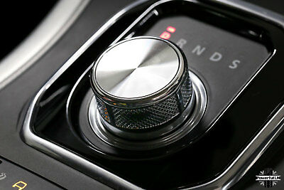 Autobiography style chrome rotary gear shift selector knob for RangeRover Evoque