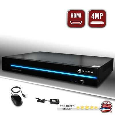 Dripstone 4MP 8CH 5-in-1 DVR with 960H/AHD/TVI/CVI/IP Support and Remote Viewing