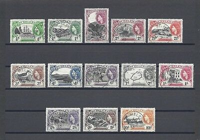 ST HELENA 1953-59 SG 153/65 USED Cat £35