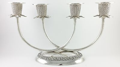Military Interest Presentation Silver 4 Light Candelabrum Thainakon Thailand
