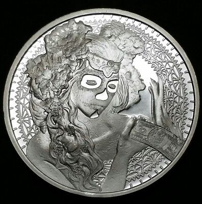 2017 La Muerte Del Dolar, Death of The Dollar Series, 1 oz .999 Silver Coin