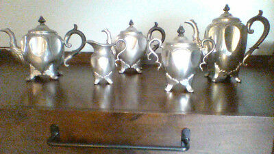 Reed and Barton Large Silver Plated 5 Piece Tea Set / Good condition
