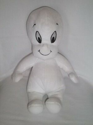 "1999 HARVEYTOONS 16"" Plush CASPER The Friendly Ghost White Vintage Stuffed Toy"