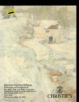 Christie's Ny 05/22/91 American Paintings Drawings & Sculpture Mrs. George Arden