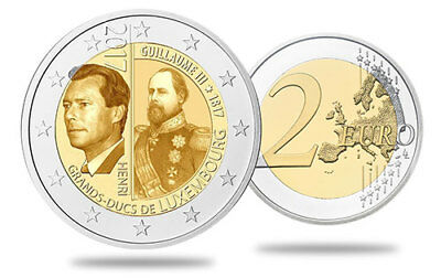 2 euros commémorative Luxembourg 2017 - Grand Duc Guillaume III - UNC disponible