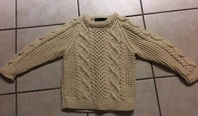 Callan Irish !00% Pure Wool  Child's Sweater Size 26 2-3 Years