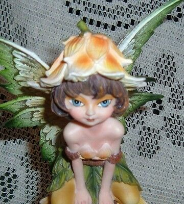 "YELLOW SPRING FAIRY TRICKET BOX 91809 7 1/2"" x 4"" x 3"" BOXED NEW"