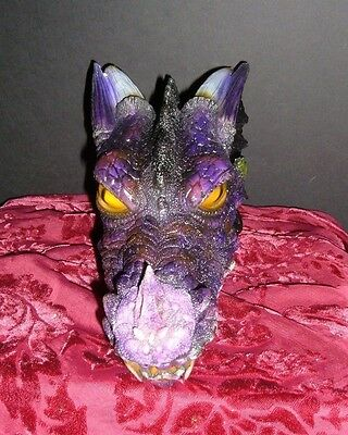 "Purple Dragon Incense Smoker Head Burner 12"" X 7"" X 5"" New Boxed 2140 Smodrag"