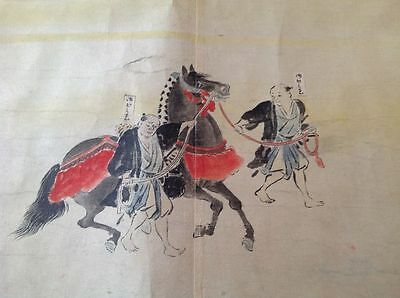 Rare Antique 19Th Century Japanese Hand Painted Emaki Scroll - 60Ft/18M Long