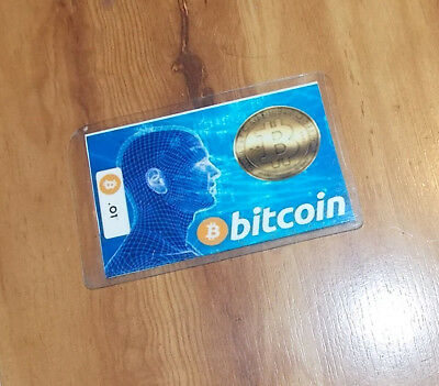 Bitcoin .01 in Cold Storage Wallet Laminated Card Cryptocurrency Stocking Gift!!