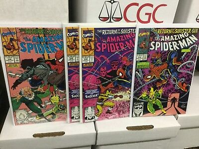 Amazing Spider-Man Sinister Six NM Lot 334, 335, 336 Original Owner CGC Ready