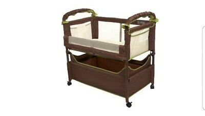 Arms Reach Concepts Clear-Vue Co-Sleeper, Cocoa Fern Baby Bassinet Bedside Crib